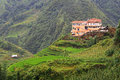 Hilltop village muong hoa valley terraced fields sa pa town vietnam Royalty Free Stock Images