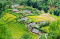 Hilltop village muong hoa valley terraced fields sa pa town vietnam Stock Photo