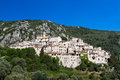 Hilltop village of peillon provence france Stock Images