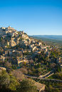 Hilltop village in provence a small france Stock Images