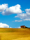 Hilly countryside in tuscany Stock Photos