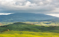 Hilly landscape near pienza tuscany italy in Stock Photos