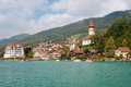 Hilterfingen in a cloudy day Stock Photography