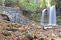 Hilton Falls and Mill Ruins Royalty Free Stock Photo