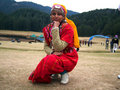 Himachali girl Royalty Free Stock Image