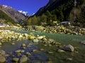Himalaya himalayas on the way to badhirnath Royalty Free Stock Photos