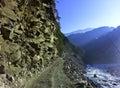 Himalaya himalayas on the way to badhirnath Stock Images