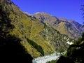 Himalaya himalayas on the way to badhirnath Royalty Free Stock Photography