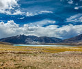 Himalayan lake kyagar tso ladakh india in himalayas Stock Images