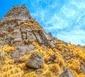 Himalayan landscape kuari pass in springtime india Stock Image