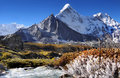 Himalayan Mountains and River Royalty Free Stock Photo