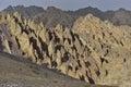 Himalayan scenic with mysterious rocks formations along stok kangri peak ladakh india Stock Photos