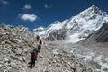 Himalayan trekkers Royalty Free Stock Photo