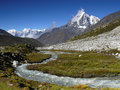 Himalaya Mountains Landscape Nepal Royalty Free Stock Photo