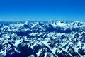 The himalayas and the k aerial view of Stock Images