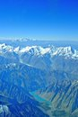 The himalayas and the k aerial view of Stock Photos