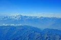 The himalayas and the k aerial view of Royalty Free Stock Photo