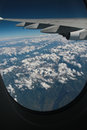 The himalayas mountain shot from airplane Stock Photos