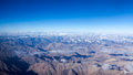 Himalayas mountains aerial view Royalty Free Stock Photos