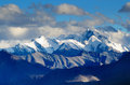 Himalayas mountains landscape view on a mountain range in snow in in ladakh india Royalty Free Stock Photography