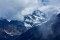 Himalayas mountains severe in clouds india Stock Photos