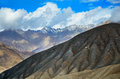 Himalayas mountains view on the in ladakh indi Stock Photos