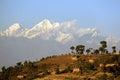 The Himalayas and Nagarkot Royalty Free Stock Photo