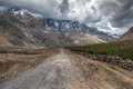 Himalayas the road in mountain Royalty Free Stock Images