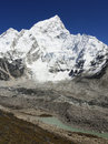 Himalayas seven thousand nuptse mountain near mt everest in nepal Royalty Free Stock Images