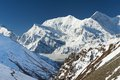 Himalayas trekking around the annapurna nepal Royalty Free Stock Photography