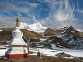 Himalayas trekking around the annapurna nepal Royalty Free Stock Photos