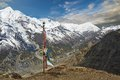 Himalayas trekking around the annapurna nepal Royalty Free Stock Photography