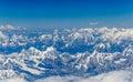 Himalayas view of mt everest mountains tibet Royalty Free Stock Photos