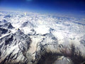 Himalyas aerial shot of snow covered Royalty Free Stock Photography
