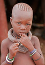 Himba boy, Namibia Royalty Free Stock Photo