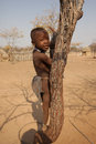 Himba child in the village namibia Royalty Free Stock Image