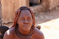 Himba woman with ornaments on the neck in the village namibia kamanjab october tribe of people near kamanjab northern Royalty Free Stock Images