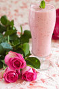 Himbeere Smoothie Lizenzfreie Stockfotos