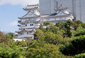 Himeji Castle in renovations Stock Photo