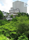 Himeji Castle under reconstruction Royalty Free Stock Photos