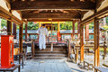 Himuro jinja shrine in nara japan november japan on november himurojinja is opposite park and is dedicated to the god of Royalty Free Stock Image