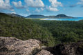 Hinchinbrook island east coast australia view from over the crystal blue bay this is s largest national park and Stock Image