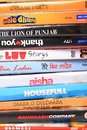 Hindi movies dvd s pile of different Stock Photography