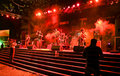 Hindi Rock group-Ashwamedh performing on stage. Stock Image