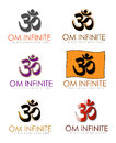 Hindu business card with the om or aum sanskrit symbol as a logo the syllable is also referred to as omkara or aumkara Royalty Free Stock Image