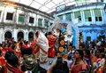 Hindu celebrating Durga Puja Royalty Free Stock Photo