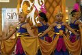 Hindu culture legacy java a javanese dance performance in solo indonesia javanese art and is highly influenced by its historic Stock Photography