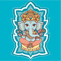 Hindu elephant God Lord Ganesh. Hinduism. Royalty Free Stock Photo