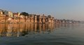 Hindu Ghats in Varanasi Stock Photos