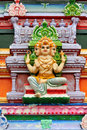 Hindu god statue on temple Royalty Free Stock Image